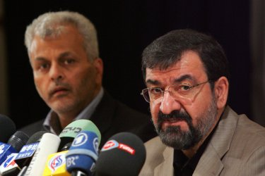 Iran's Expediency Council Secretary Mohsen Rezaie registers for upcoming presidential election