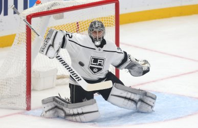Los Angeles Kings goaltender Jonathan Quick