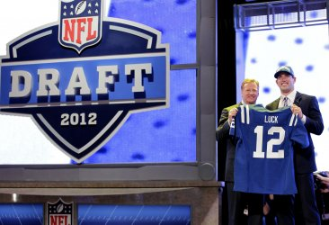Indianapolis Colts select Andrew Luck as #1 Overall pick of the 2012 NFL Draft at Radio City Music Hall in New York