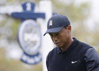 Tiger Woods at the PGA Championship at Bethpage Black