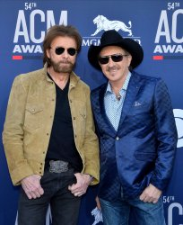 Ronnie Dunn and Kix Brooks attend the Academy of Country Music Awards in Las Vegas