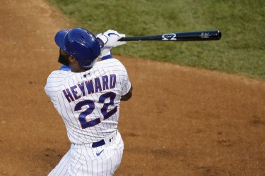 Cubs Jason Heyward Hits Two-Run Home Run At Wrigley Field in Chicago