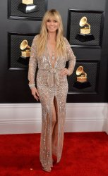 Heidi Klum arrives for the 62nd annual Grammy Awards in Los Angeles