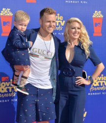 Gunner Pratt, Spencer Pratt and Heidi Montag attend the MTV Movie & TV Awards in Santa Monica, California