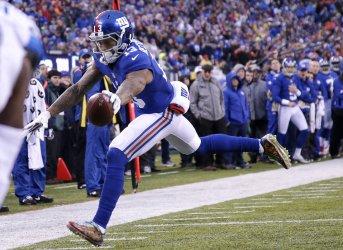 Giants Odell Beckham Jr. scores a touchdown