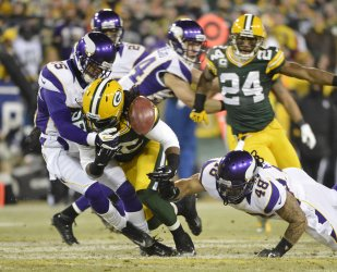 Minnesota Vikings vs. Green Bay Packer in the NFC Wild Card Round in Green Bay