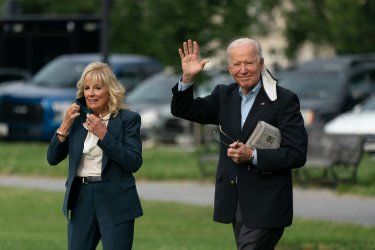 President Joe Biden and first lady depart the White House
