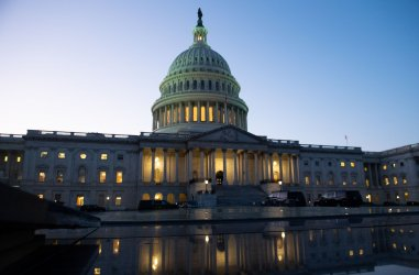 The US Capitol is seen before the Impeachment vote