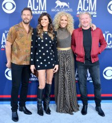 Jimi Westbrook, Karen Fairchild, Kimberly Schlapman and Philip Sweet attend the Academy of Country Music Awards in Las Vegas