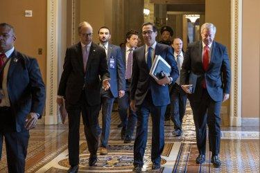 Congress Work on Coronavirus Stimulus Package .