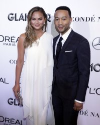 Chrissy Teigen and John Legend arrive to the 2018 Glamour Women of the Year Awards