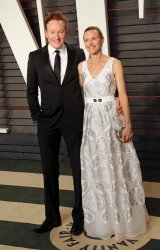 Conan O'Brien and Liza Powel arrive at the Vanity Fair Oscar Party in Beverly Hills