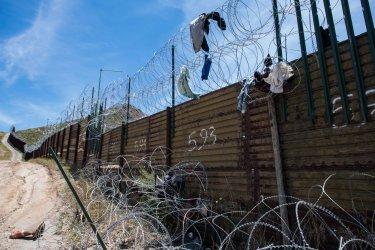 Border Fence at the U.S. - Mexico Border in California