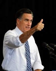 Mitt Romney addresses supporters at a campaign event in Henderson, Nevada