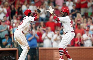 St. Louis Cardinals Dexter Fowler hits two run home run