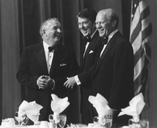 President Reagan and Gerald Ford at Gala Fundraiser