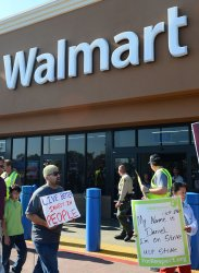 Nine protesters arrested after Walmart workers walk off their jobs in Southern California