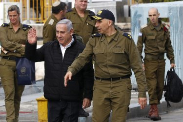 Israeli PM Benjamin Netanyahu Inspects Navy