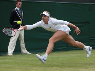 Sabine Lisicki returns at 2013 Wimbledon Championships