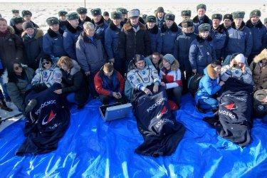 Expedition 61 Soyuz Landing in Kazakhstan