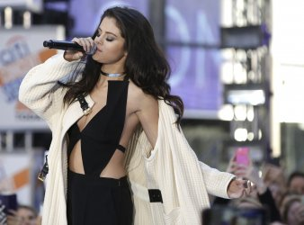 Selena Gomez performs on the NBC Today Show