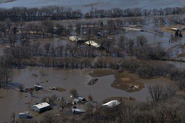 Nebraska Experiences Historic Flooding As Hundreds Are Forced to Evacuate