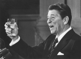 Ronald Reagan Honors FDR