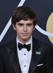 Freddie Highmore attends the 75th annual Golden Globe Awards in Beverly Hills