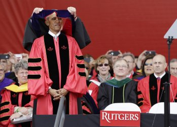 President Obama receives an honorary degree at Rutgers