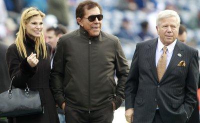 Patriots Kraft and Steve Wynn at Gillette Stadium in Foxboro, MA.