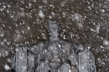 Lincoln Memorial in the Snow