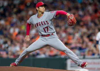 Angels starting pitcher Shohei Ohtani