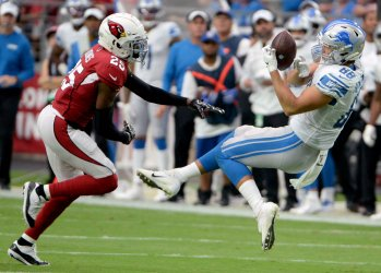 Lions' Hockenson makes catch as he falls backwards