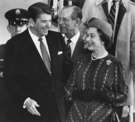 President Reagan Greets Queen Elizabeth and Prince Philip