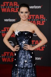 """Daisy Ridley attends the """"Star Wars: The Last Jedi"""" premiere in Los Angeles"""