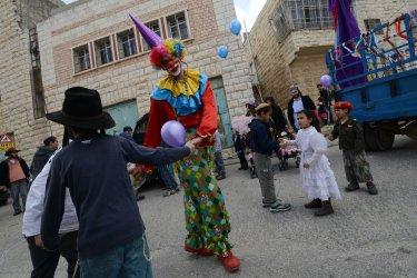 Settler Purim Parade Hebron, West Bank