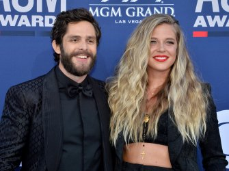 Thomas Rhett and Lauren Akins attend the Academy of Country Music Awards in Las Vegas
