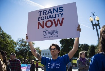 Transgender rights protest at the White House