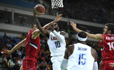 USA vs Serbia Men's Basketball at the  Rio Summer Olympics