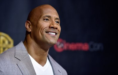 Actor Dwayne Johnson attends the 2015 CinemaCon in Las Vegas