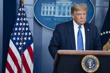 President Donald Trump Leads a Coronavirus Briefing