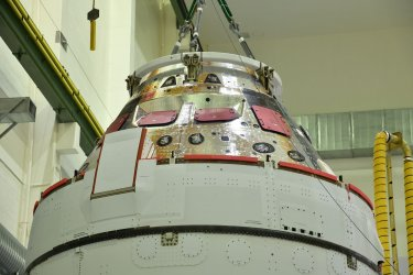 NASA's Orion Spacecraft prepared for mission from the Kennedy Space Center
