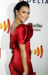 Naya Rivera arrives for the Glaad Media Awards in New York