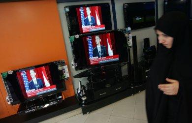 U.S. President Barack Obama delivers his speech at Cairo University