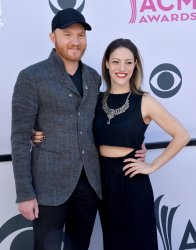 Eric Paslay and Natalie Harker attend the 52nd annual Academy of Country Music Awards in Las Vegas