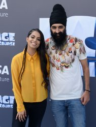 """Lily Singh and Humble the Poet attend the """"Ice Age: Collision Course"""" premiere in Los Angeles"""