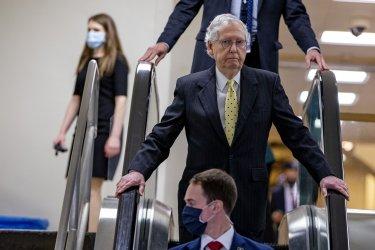 Senate Majority Leader Mitch McConnell GOP Lucnhoen