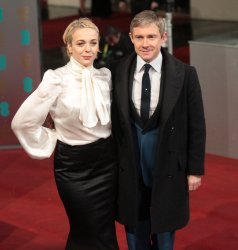 Martin Freeman and partner arrives at the Baftas Awards Ceremony