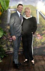 Hugh Jackman and Deborra-Lee Furness attend the World Premiere of 'Pan' in London