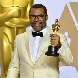 Jordan Peele wins Oscar for Best Original Screenplay at the 90th annual Academy Awards in Hollywood.